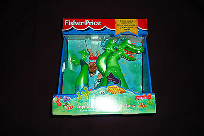 Vintage 1996 Fisher Price Great Adventures Sea Serpent & Diver NEW IN BOX