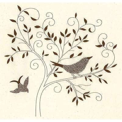Simple Stitch Bird Silhouette Stamped Embroidery Kit-12 Inch X 12  049489008350