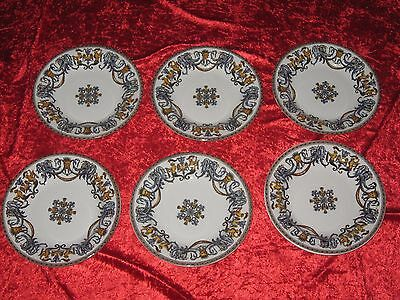 Rare Et Sublime Serie De 6 Assiettes Creuses En Faience De Gien Decor Au Masque