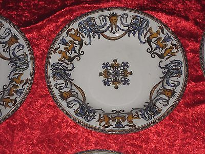 Belle Assiette Creuse En Faience De Gien Decor Au Masque N°2