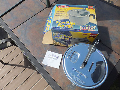 Whirley-Pop Popcorn Popper Stove Top Theater Style Popping Kit Maker 6 Quarts