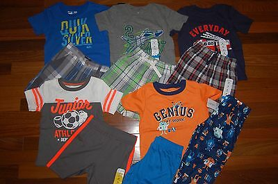 NWT Boys 2t CARTER'S JUMPING BEANS 11 Piece Lot Summer Sets & Pajamas  RV $159