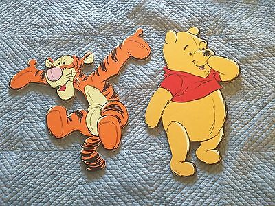 2 Winnie the Pooh and Tigger Nursery Wall Decorations: Wood, Great Shape
