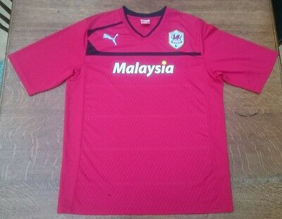 Official  Puma  CARDIFF CITY  football  shirt  Adults  X Large