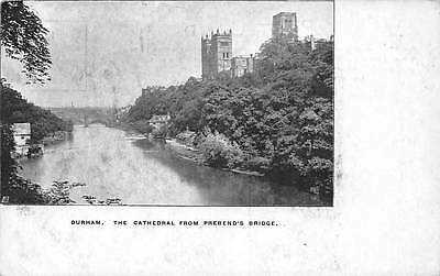 Durham The Cathedral from Prebend's Bridge River Panorama
