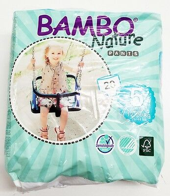 Bambo Nature Premium Baby Diapers Training Pant Size 5 20 Count