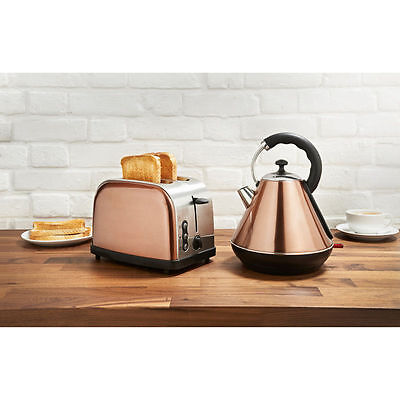 Copper Kettle And Toaster Set - Rare Colour - Goodmans- STYLISH & SLEEK