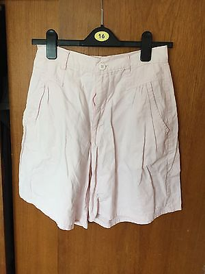 VINTAGE Ladies High Waisted Pink Colloutte Shorts Size 8/10