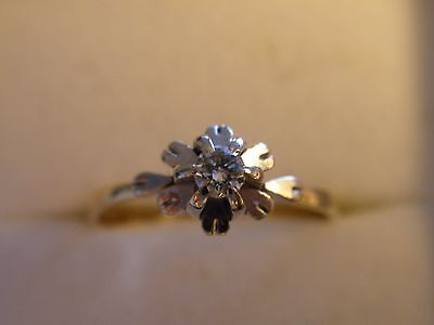 Beautiful 18Ct Gold And Diamond Solitaire Engagement Ring, Size L
