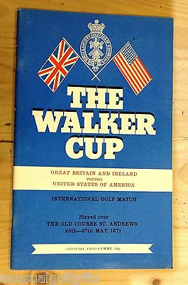 1971 Walker Cup Golf Programme Program In Absolutely Superb Condition +Drawsheet