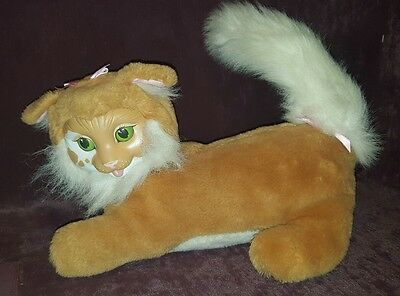 VINTAGE KITTY SURPRISE PLUSH STUFFED CAT no kittens HASBRO Brown with green eyes