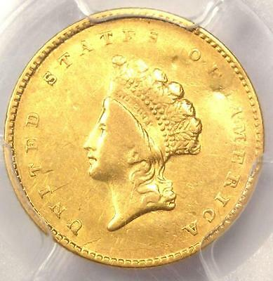 1855 Type 2 Indian Gold Dollar (G$1 Coin) - Certified PCGS XF Detail - Rare Date