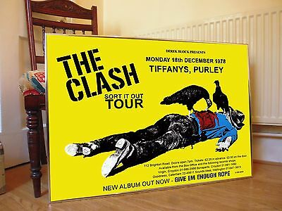 The Clash Give Em Enough Rope Promo Poster, Sex Pistols, The Damned Punk