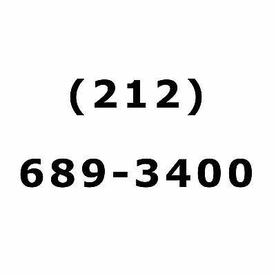 NYC Easy Vanity Phone Number 212 AREA CODE Manhattan New York City For Sale 212