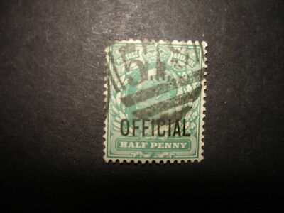 GB : 1902 1/2d blue-green opt. OFFICIAL : Used