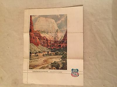 1933 Union Pacific The Overland Route Brochure
