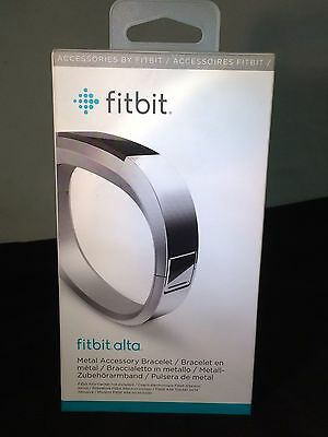 Fitbit Small Metal Bracelet for Alta Activity Tracker, Silver #FB158MBSRS 6736-2