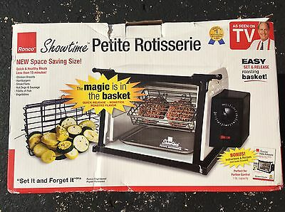 Ronco Showtime Petite Rotisserie In Original Box As Seen On Tv Small Oven - New!
