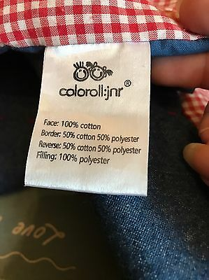 Colour Roll Jr  Children's Bed Throw And Matching Cushion