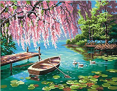 """Paint Works Paint By Number Kit 14""""X11""""-Willow Spring Beauty"""