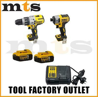 Dewalt 18V Cordless Dcd996 Brushless Drill And Impact Driver Dcf887 Combo Kit