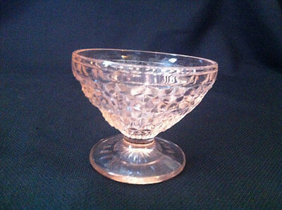Pink Depression Glass Vintage Champagne/Sherbert Jeannette Holiday Button & Bows
