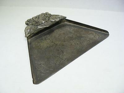 "Grammes Vintage Table Crumb Pan Silver Plated 7.5"" Wide"