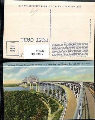 217694,Louisiana New Orleans Huey P. Long Bridge connecting New Orleans with the