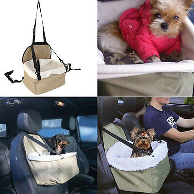 Quality Soft Pet Dog Puppy Cat Kitty Car Seat Carrier Car Auto Vehicle Leash