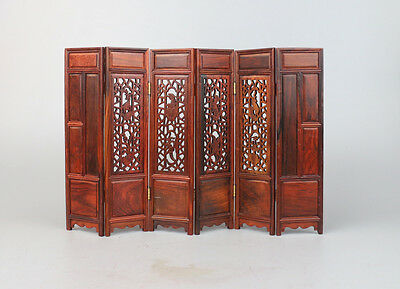 display rosewood red hard wood design hinese miniature table folding screen