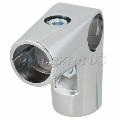 Silber 3 Way 25mm Elbow Rohrklemme L Shaped Pipe Fitting Verbindungsstueck