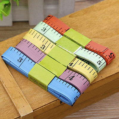 """5X Flat Tape Measure for Tailor Sewing Cloth Soft Body Measuring Ruler 60""""/150cm"""