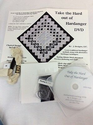 Take The Hard Out Of Hardanger Kit Instructional DVD Charted Design