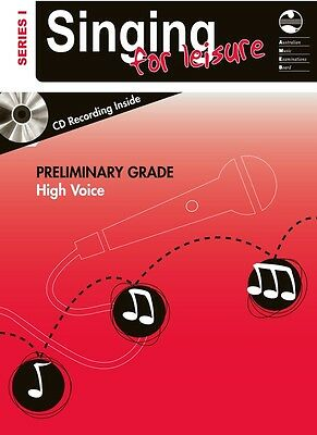 AMEB Singing For Leisure Series 1 - Preliminary Grade High Voice Music Book & CD