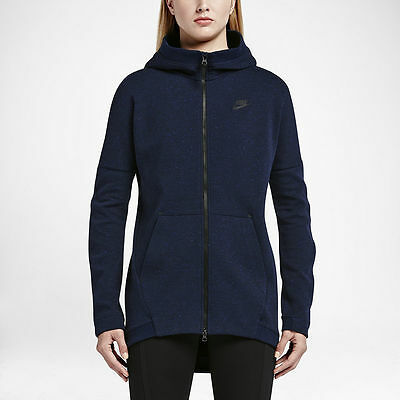 New Nike Tech Fleece  Mesh Cocoon Womens Jacket/long zipped sweatshirt/hoodie