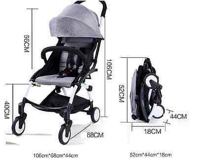Foldable Baby Buggy Stroller Pram Mini Travel Carry on Flight Small Fold Luggage