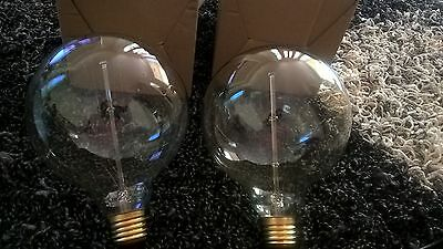 Large 2 Edison Vintage Bulbs-Retro industrial Classical Globes 25w