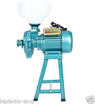 Electric Animal Poultry Feed Mill Wet Dry Grinder Corn Grain Rice Wheat 220V S