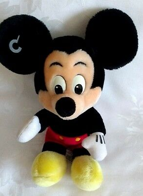 """Disney - Mickey Mouse 13"""" Tall Stuffed Plush Doll Excellent Condition"""