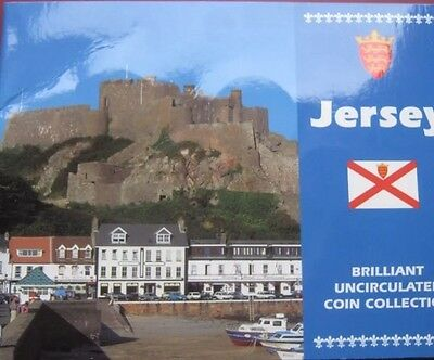 Bailiwick Of Jersey 1997 UNC 9 Coin Set collection Penny - Two Pounds 1p/£2