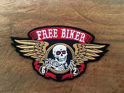 New Free Biker Patch Back Motorcycle Embroidered Patch