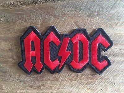 New AC/DC Logo Hard Metal Rock Music Band Sew Iron On Embroidered Patch.