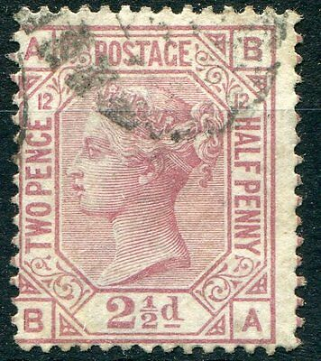 GB QV Surface Printed 1879 SG 141 2 1/2d plate 12 sound used