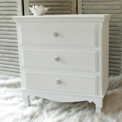 Lila Range White 3 Drawer Chest of Drawers bedroom clothes storage french chic