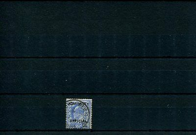 """GB Officials KEDVII 1903 SG 0105 2 1/2d ultramarine """"Admiralty"""" Official used"""
