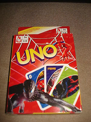 Spiderman  Uno  Cards - Brand  New