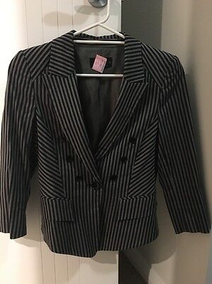 Cue Striped Skirt Suit 10/12
