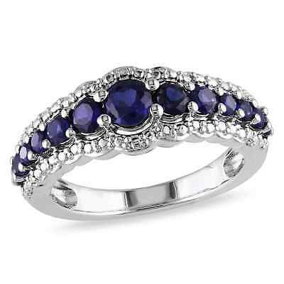 Fashion Woman  Blue Sapphire 925 Silver Wedding Party Ring Size 6-10