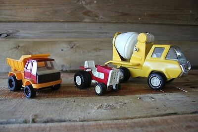 Vintage Tonka Truck Tractor Cement Mixer Concrete Toy Tin
