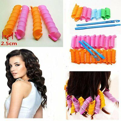 18/36/40PCS 55CM Magic DIY Hair Curlers Tool Styling Roller Spiral Curlformers